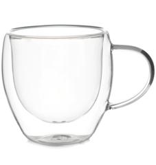 Чашка с двойными стенками, стеклянная, 150 мл