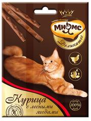 Лакомые палочки 9 см для кошек Мнямс Деликатес с курицей и лесными ягодами