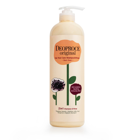 DEOPROCE HAIR Шампунь-бальзам 2 в 1 бобы DEOPROCE ORIGINAL HAIR ROOT CARE 2 IN 1 SHAMPOO BLACK BEAN 1000ml 1000мл