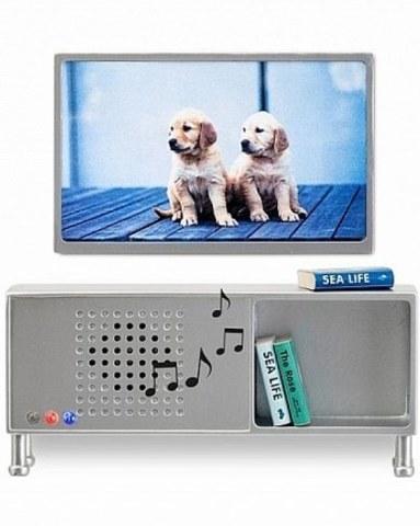 Мебель для домика Lundby Музыкальный центр и телевизор серого цвета 60904000