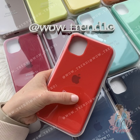 Чехол iPhone 11 Silicone Case Full /red/