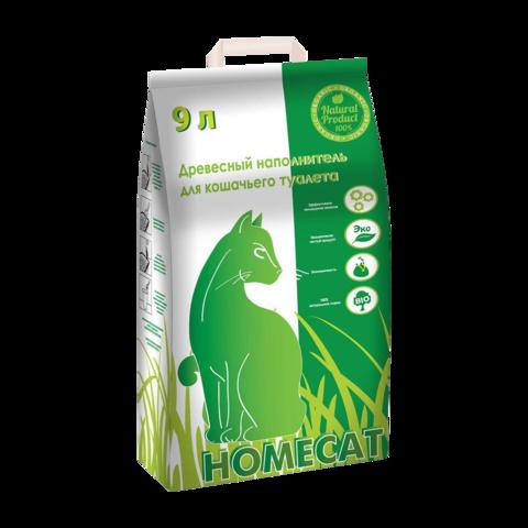 Homecat Наполнитель для кошачьих туалетов древесный мелкие гранулы