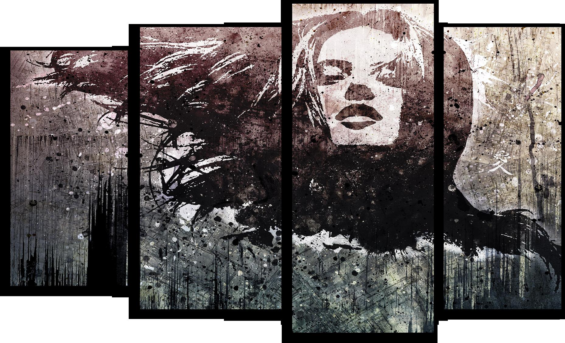 """Города Модульная картина """"Девушка-загадка"""" М508.png"""