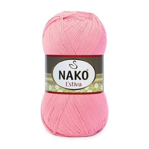 Пряжа Nako Estiva 338 розовый коралл