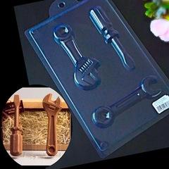 Пластиковая форма для шоколада ИНСТРУМЕНТЫ с ОТВЕРТКОЙ (130х55мм)