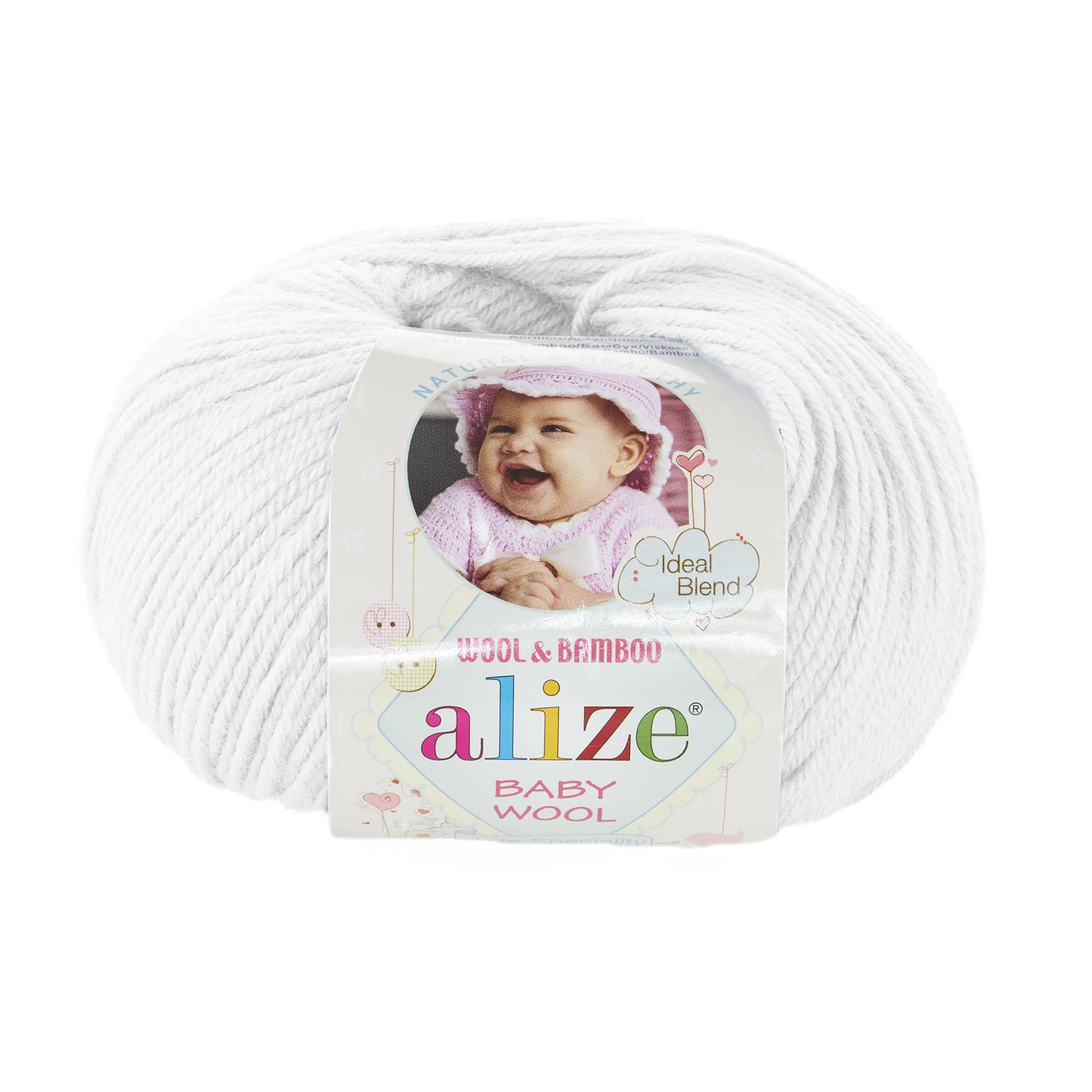 Пряжа Alize Baby Wool белый 55