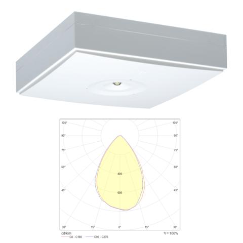 Аварийные светильники потолочного типа для высоких помещений ZONESPOT II MIDBAY IP44 Teknoware