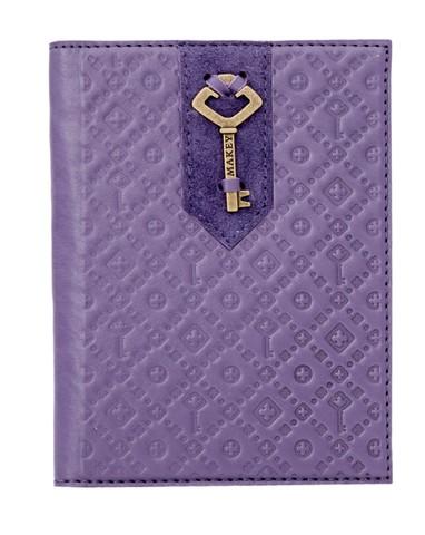 Обложка на паспорт «Ключ». Цвет лаванда