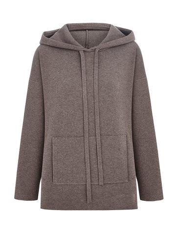 Женский свитер темно-кофейного цвета из вискозы - фото 2