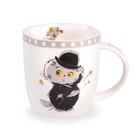 Кружка кот Басик Чарли Чаплин