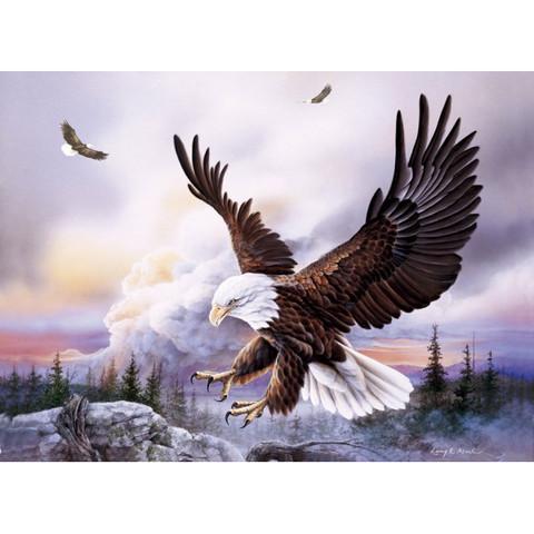 Алмазная Мозаика 30x40 Орел на охоте
