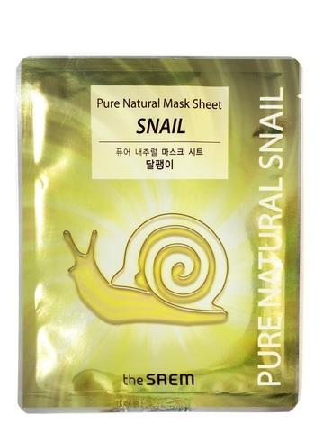 The Saem Восстанавливающая тканевая маска с муцином улитки Pure Natural Mask Sheet Snail