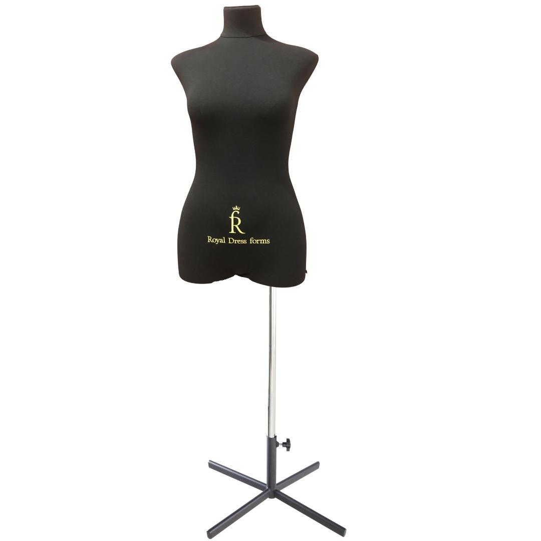 Манекен портновский Кристина, комплект Премиум, размер 44, тип фигуры Прямоугольник, черныйФото 1