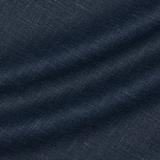 Тонкая шерстяная ткань со льном оттенка синего меланжа
