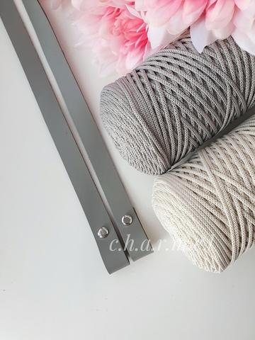 Ручки для сумок на винтах (2 шт)  60 см цвет Светло-серый