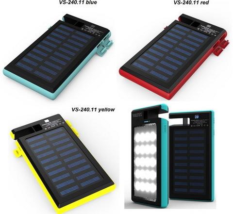 Power Bank Voltex VS-240.11+SMD 2xUSB 10400mAh влагозащита + солнечная батарея red