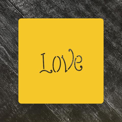 Трафарет любовь №68 Love