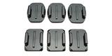 Набор плоских и изогнутых клеящихся платформ GoPro Flat + Curved Adhesive Mounts (AACFT-001) комплект
