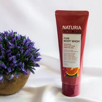 Увлажняющий гель для душа Evas Naturia Pure Body Wash Cranberry & Orange