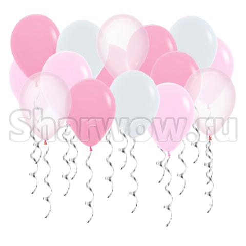 Воздушные шары под потолок Оттенки розового