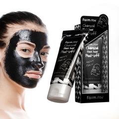 Отшелушивающая маска-пленка от чёрных точек с углем FarmStay