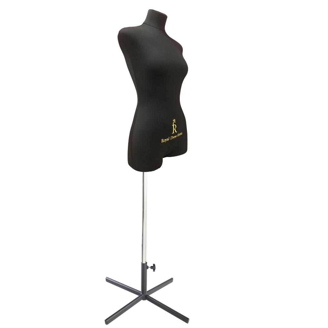 Манекен портновский Кристина, комплект Премиум, размер 44, тип фигуры Прямоугольник, черныйФото 2