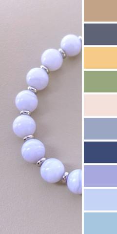 цветовая шпаргалка по подбору одежды - несколько вариантов для голубого агата