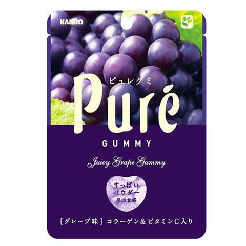 Жевательный мармелад Kanro Pure Красный со вкусом винограда 56 гр