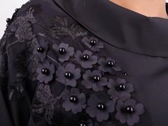 Мілана. Стильна блуза великих розмірів. Чорний.