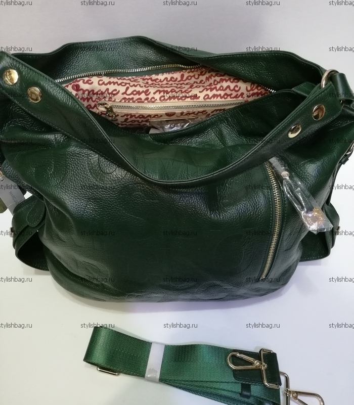 Зеленая женская сумка из кожи NF190904