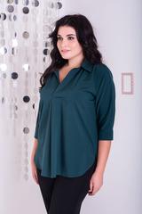 Айріс. Жіноча блуза великих розмірів. Смарагд