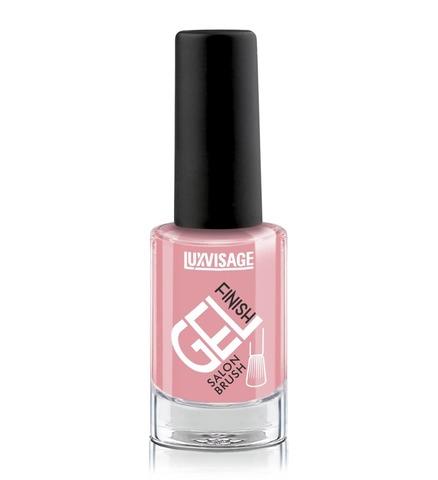LuxVisage Лак для ногтей GEL finish тон 19(теплый розовый) 9г