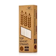 Пшеничная коктейльная трубочка, упаковка на 100 шт.