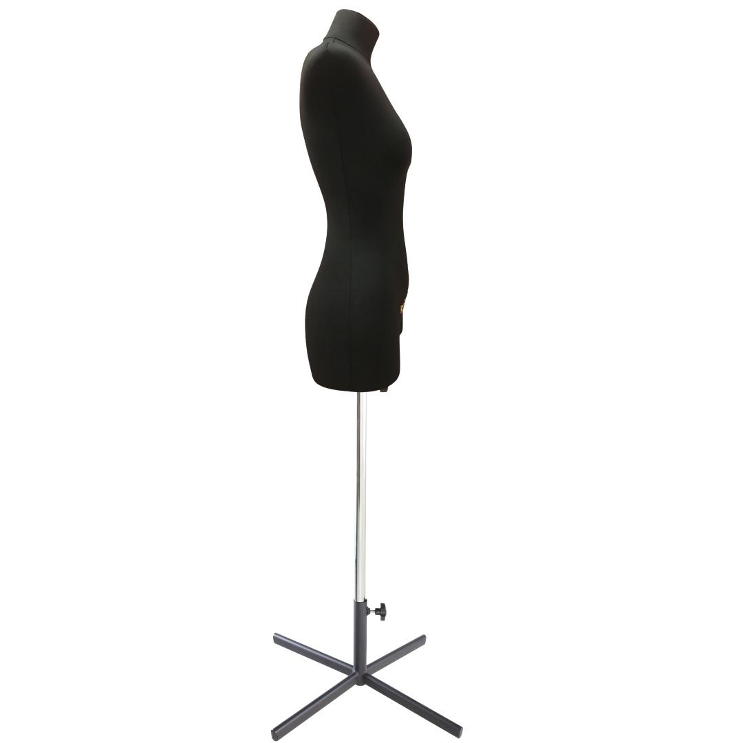 Манекен портновский Кристина, комплект Премиум, размер 44, тип фигуры Прямоугольник, черныйФото 3