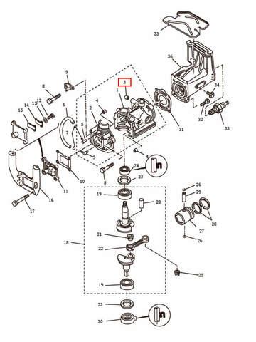 Втулка  для лодочного мотора T2,5 SEA-PRO (2-3)