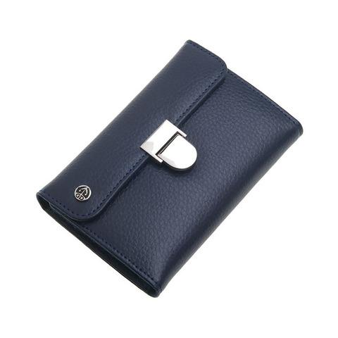 Маникюрный набор GD, 6 предметов, цвет синий, кожаный футляр