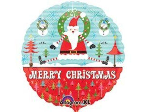Фольгированный шар Санта игривый