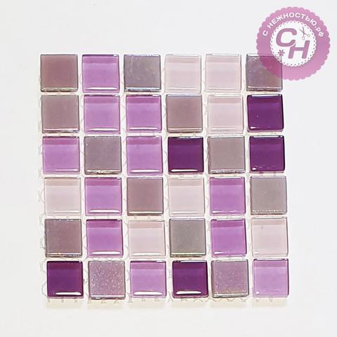 Мозаика стеклянная цветная, 10*10 см.