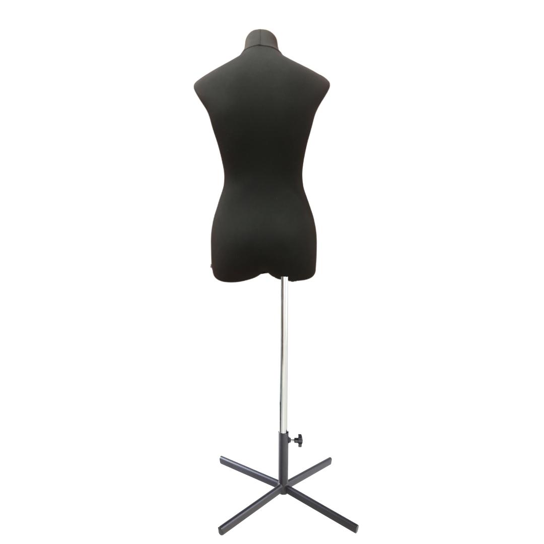 Манекен портновский Кристина, комплект Премиум, размер 44, тип фигуры Прямоугольник, черныйФото 4