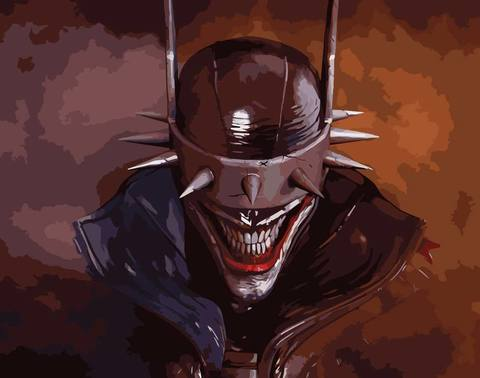 Картина по номерам на холсте Batman Who Laughs, 40см*50см