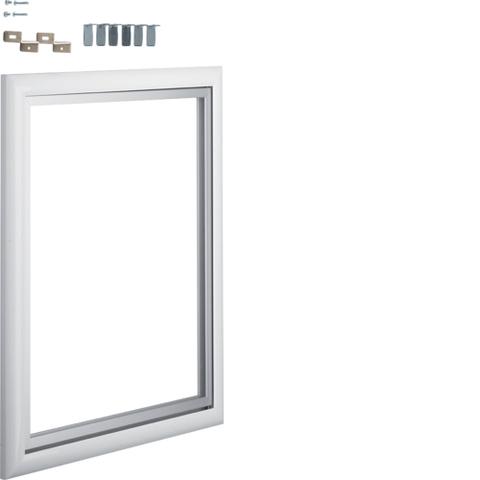Дверца со сменной вставкой (иллюстративная, зеркальная) для встраиваемого Volta,2-рядного, белая