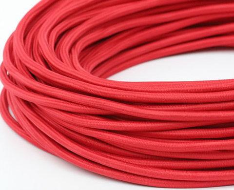 Круглый ретро провод (Красный)