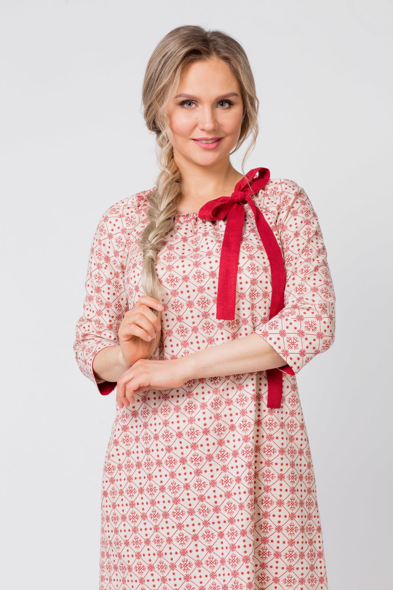 Платье льняное Очарование приближенный фрагмент