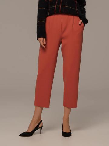 Женские брюки терракотового цвета из шерсти - фото 4