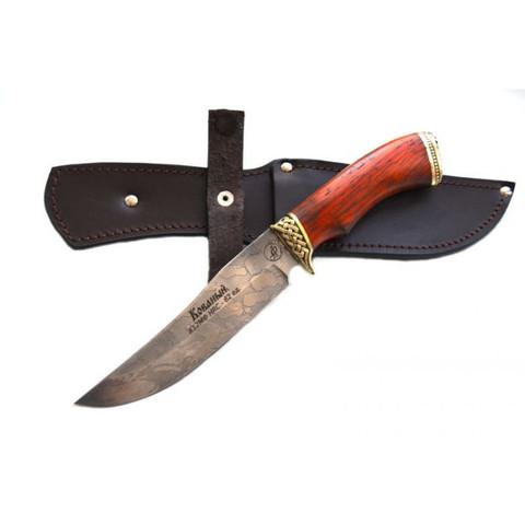 Нож туристический Рыбак, сталь X12МФ, кованый, красное дерево ИП Фурсач