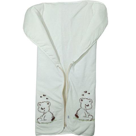 Папитто. Конверт-одеяло на молнии с вышивкой экрю