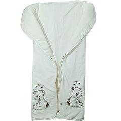 Папитто. Конверт-одеяло на молнии с вышивкой, экрю