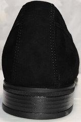 Модные мужские туфли лоферы замшевые Ikoc 3410-7 Black Suede.