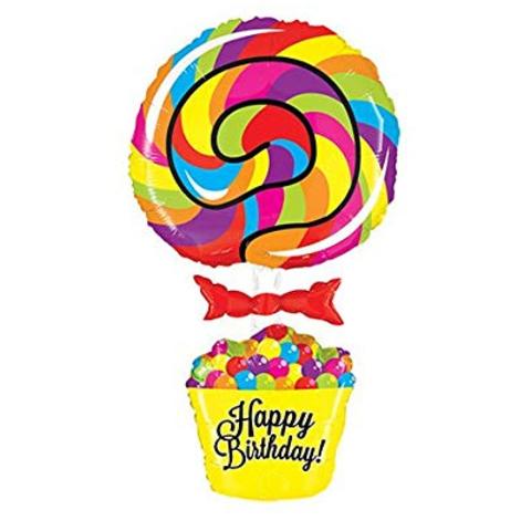 Шар фигура Леденец Happy Birthday, 101 см
