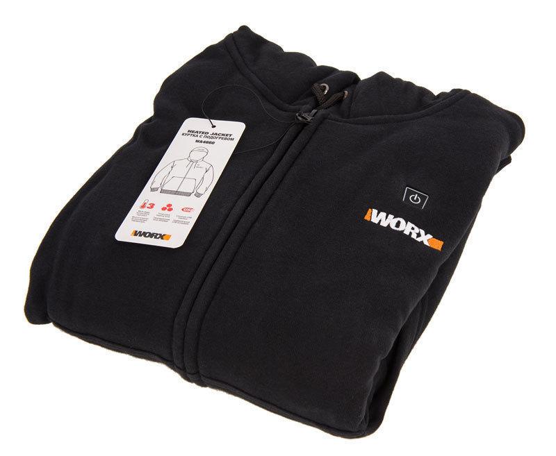 Куртка с подогревом Worx WA4660 3XL черная